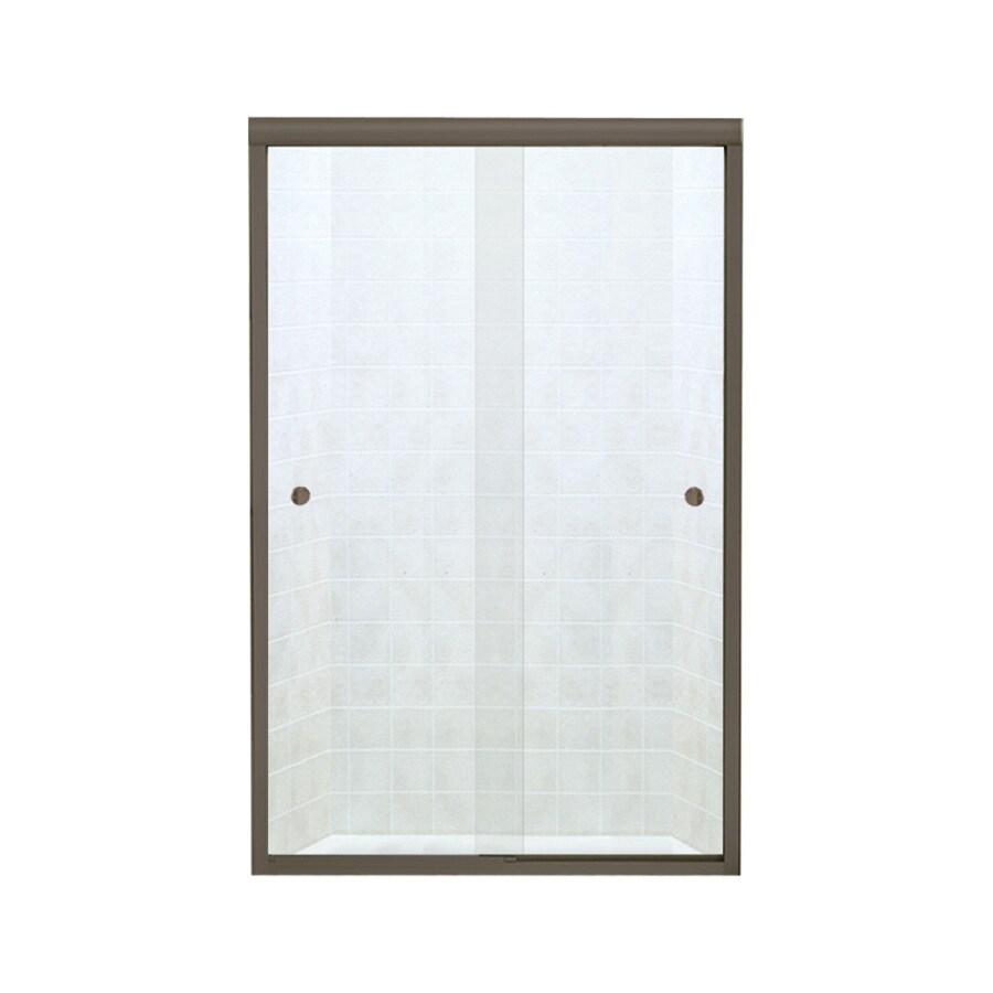 Sterling Finesse 42.625-in to 47.625-in W Frameless Deep Bronze Sliding Shower Door