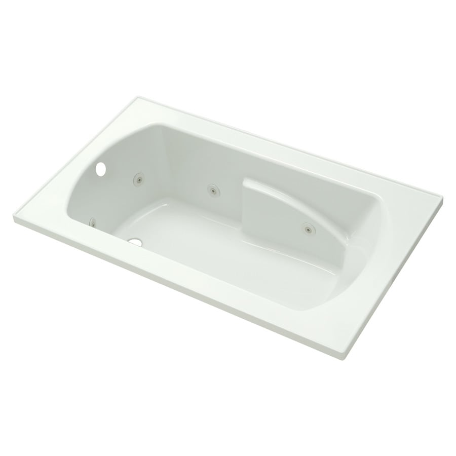 Sterling Lawson 36-in White Vikrell Drop-In Whirlpool Tub with Left-Hand Drain