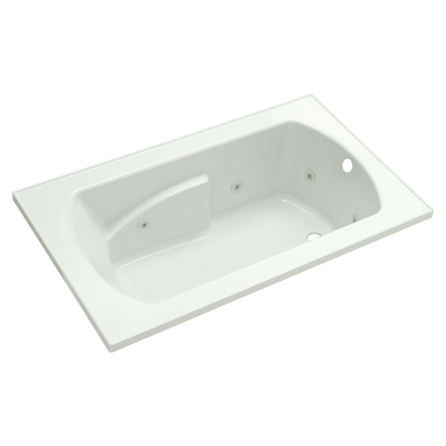 Sterling Lawson 36-in White Vikrell Drop-In Whirlpool Tub with Right-Hand Drain