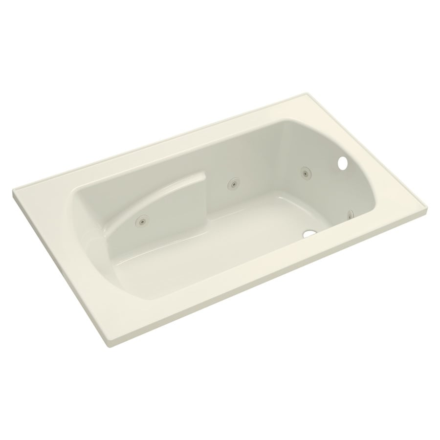 Sterling Lawson 36-in Biscuit Vikrell Drop-In Whirlpool Tub with Right-Hand Drain