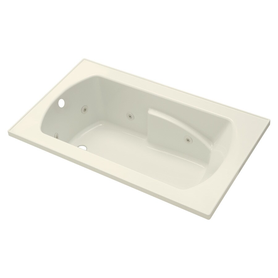 Sterling Lawson Biscuit Vikrell Rectangular Whirlpool Tub (Common: 60-in x 36-in; Actual: 20.3125-in x 60-in x 36-in)