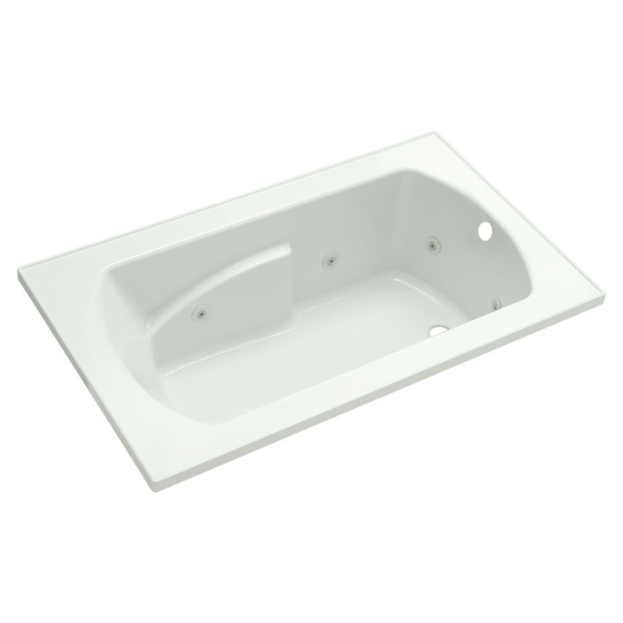 Sterling Lawson 1-person White Vikrell Rectangular Drop-In Whirlpool Tub (Common: 60-in x 36-in; Actual: 20.3125-in x 60-in x 36-in)
