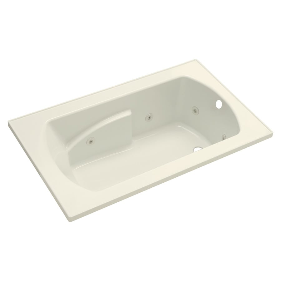 Sterling Lawson 1-Person Biscuit Vikrell Rectangular Whirlpool Tub (Common: 60-in x 36-in; Actual: 20.3125-in x 60-in x 36-in)