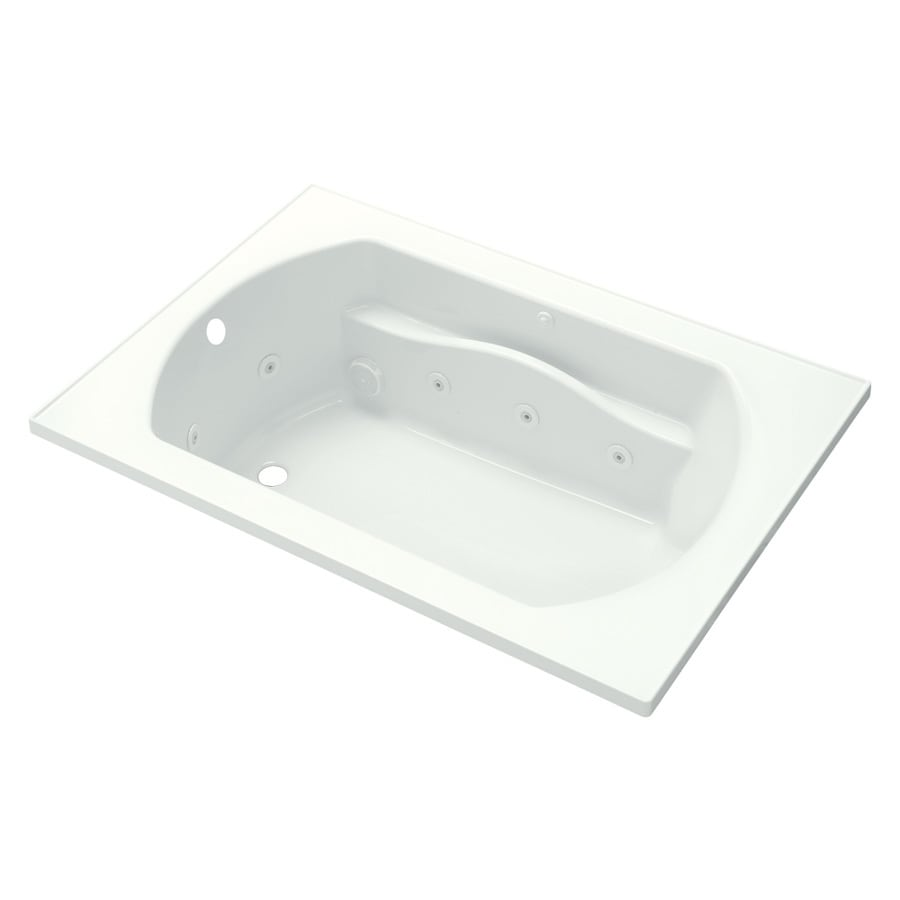 Sterling Lawson 42-in White Vikrell Drop-In Whirlpool Tub with Left-Hand Drain