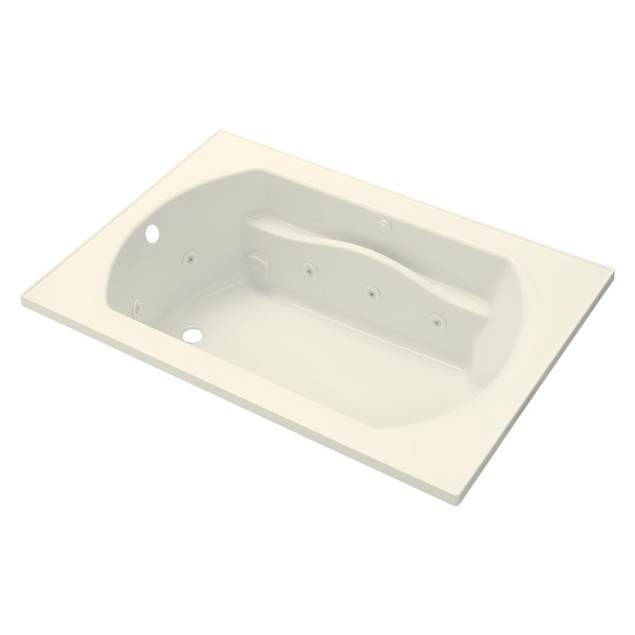 Sterling Lawson 60-in Biscuit Vikrell Drop-In Whirlpool with Left-Hand Drain