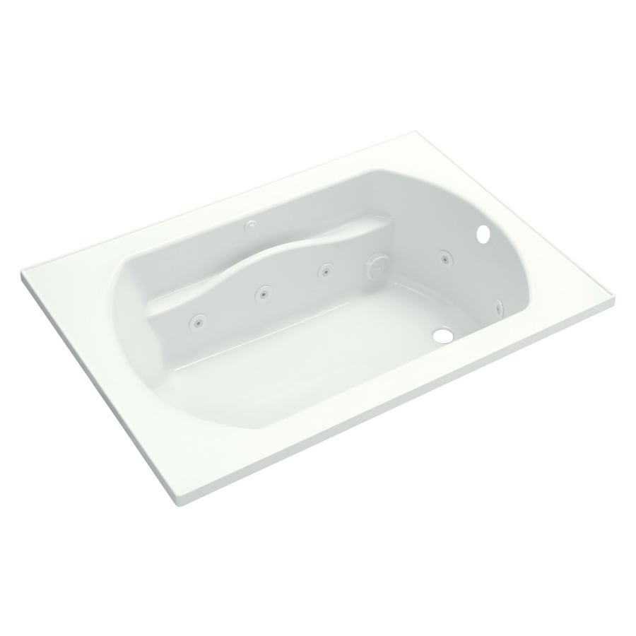 Sterling Lawson 60-in White Vikrell Drop-In Whirlpool Tub with Right-Hand Drain