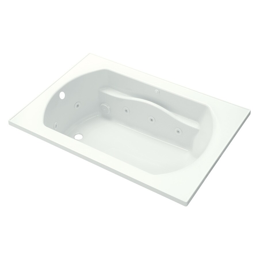 Sterling Lawson 60-in White Vikrell Drop-In Whirlpool Tub with Left-Hand Drain