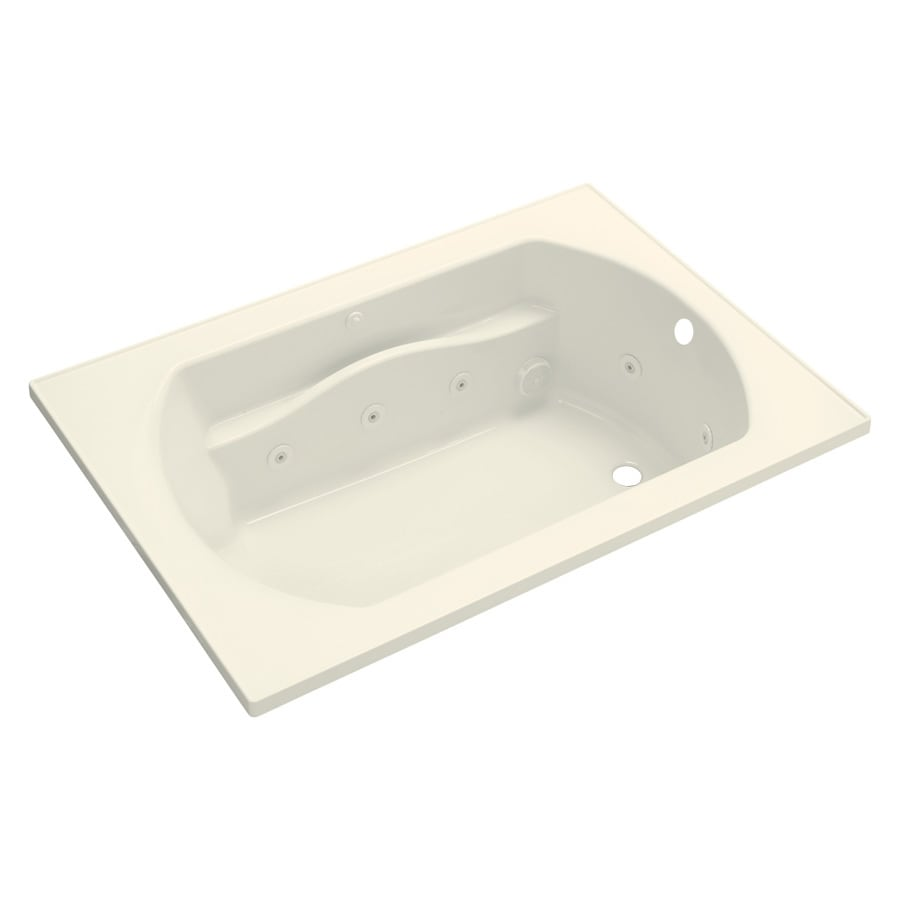 Sterling Lawson Biscuit Vikrell Rectangular Whirlpool Tub (Common: 60-in x 42-in; Actual: 20.3125-in x 60-in x 42-in)
