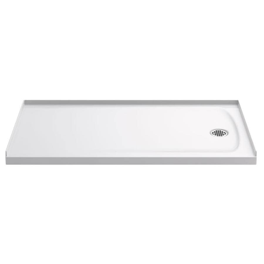 KOHLER Ballast White Acrylic Capped Solid Surface Shower Base (Common: 32-in W x 60-in L; Actual: 32-in W x 60-in L)