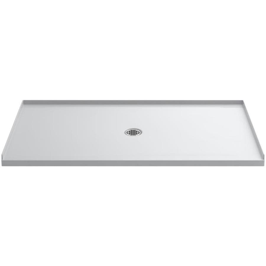 KOHLER Ballast White Acrylic Shower Base (Common: 36-in W x 66-in L; Actual: 36-in W x 66-in L)