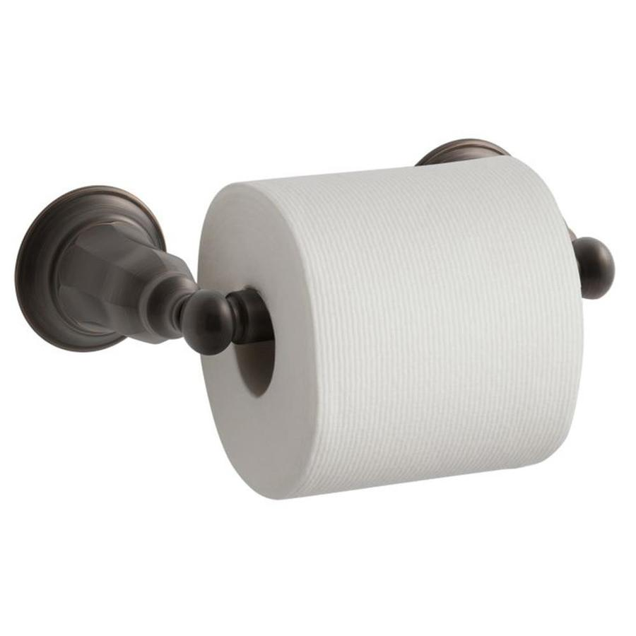 KOHLER Kelston Oil-Rubbed Bronze Surface Mount Spring-Loaded Toilet Paper Holder