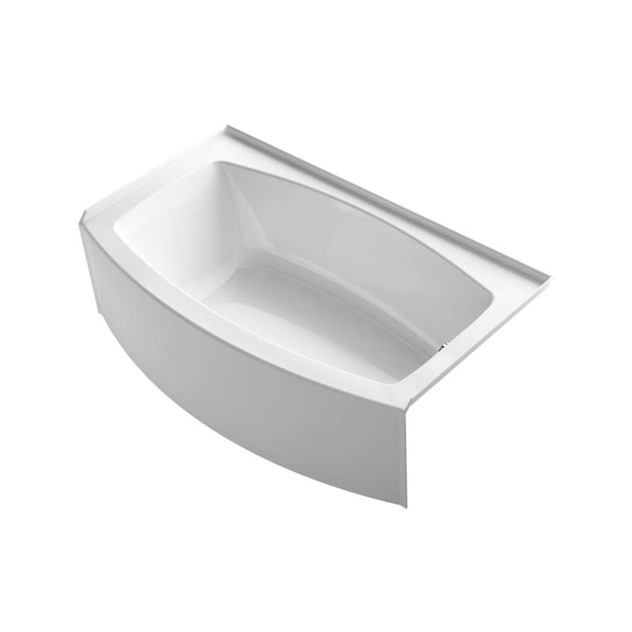 KOHLER Expanse White Acrylic Rectangular Alcove Bathtub with Right-Hand Drain (Common: 36-in x 60-in; Actual: 18.25-in x 36-in x 60-in)