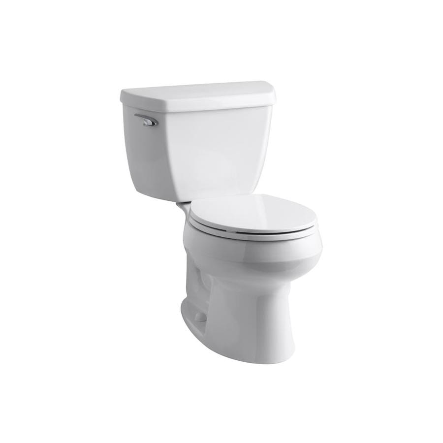 KOHLER Wellworth 1.28-GPF White WaterSense Round Standard Height 2-Piece Toilet