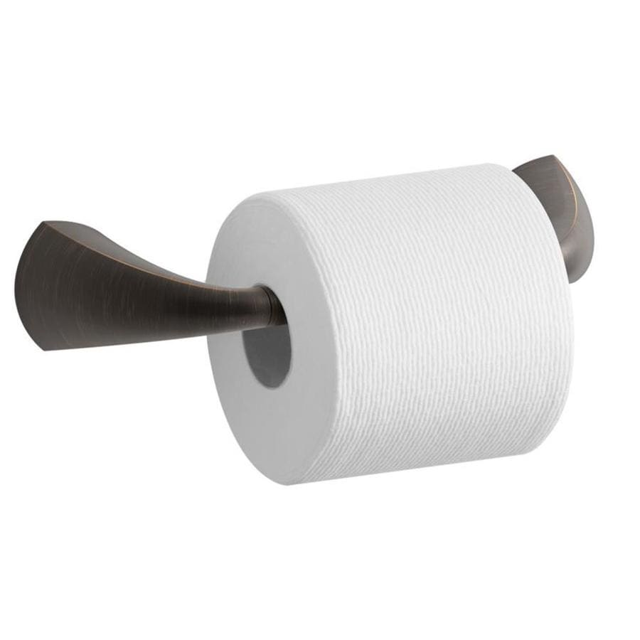 Shop KOHLER Alteo OilRubbed Bronze Surface Mount Pivot Toilet Paper - Kohler bathroom accessories chrome