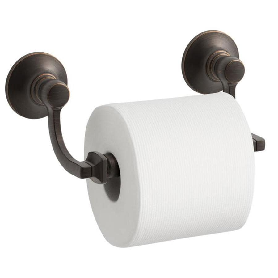 KOHLER Bancroft Oil-Rubbed Bronze Surface Mount Spring-Loaded Toilet Paper Holder