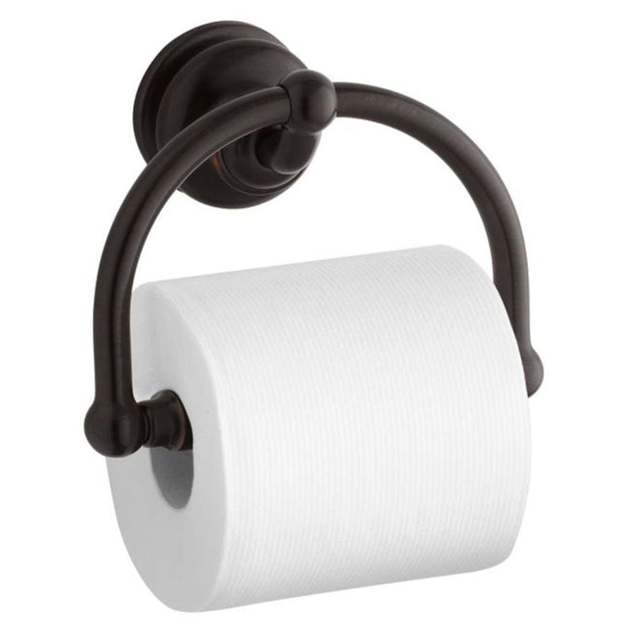 KOHLER Fairfax Oil-Rubbed Bronze Surface Mount Spring-Loaded Toilet Paper Holder