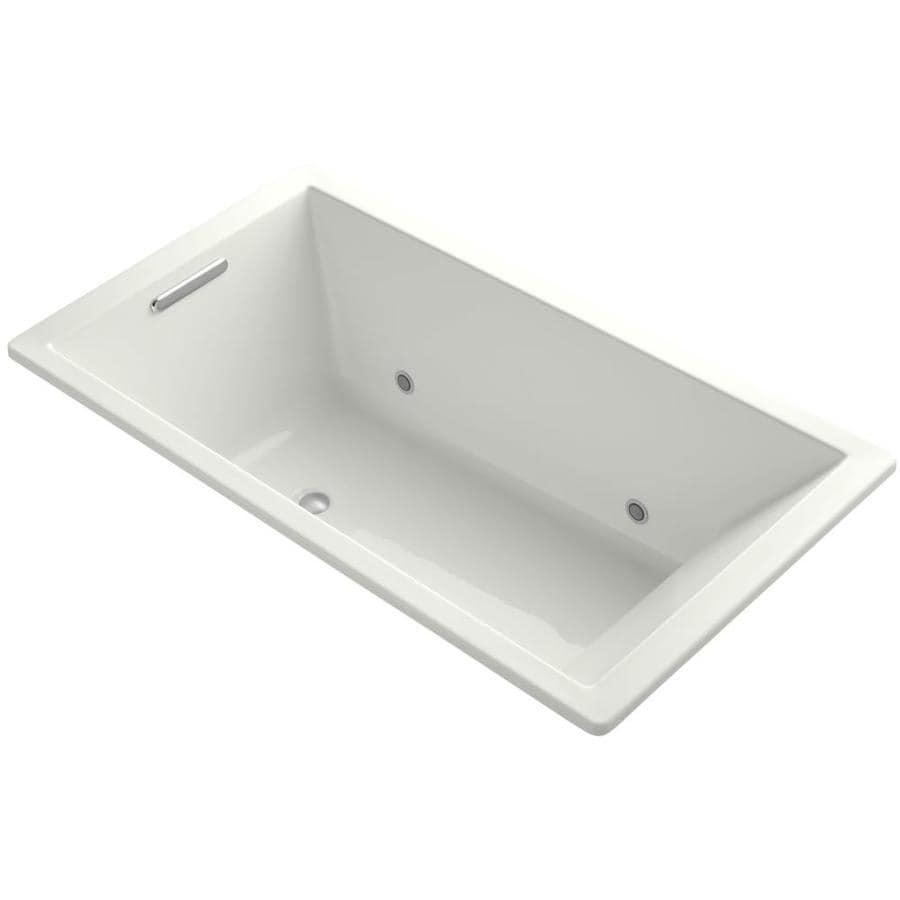 KOHLER Underscore Dune Acrylic Rectangular Drop-in Bathtub with Center Drain (Common: 36-in x 66-in; Actual: 22-in x 36-in x 66-in)