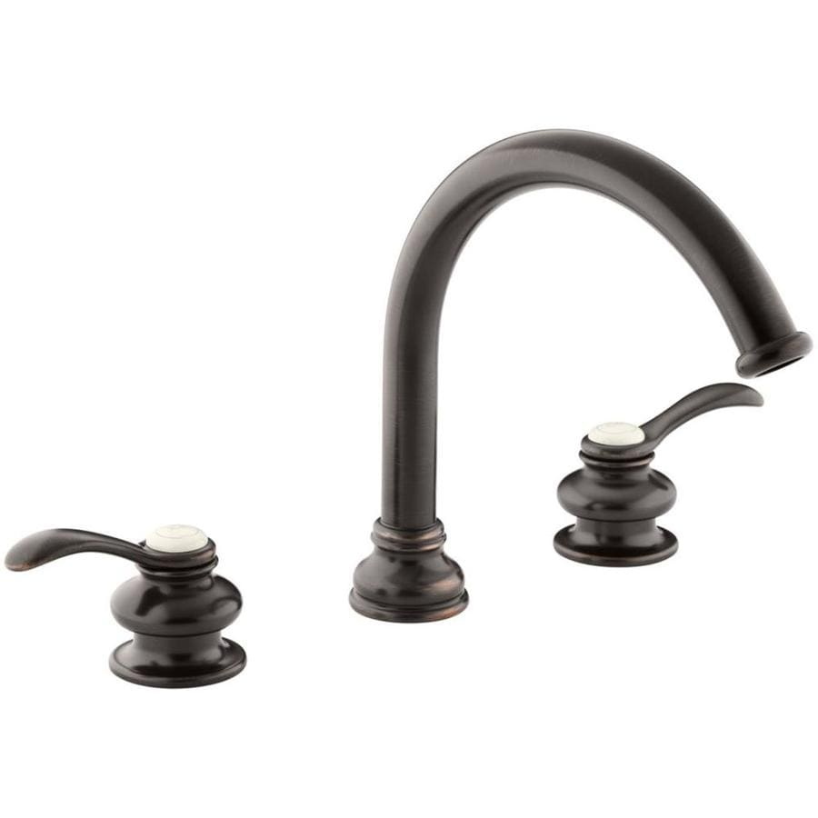 Shop KOHLER Fairfax Oil Rubbed Bronze 2 Handle Widespread Bathroom Faucet At