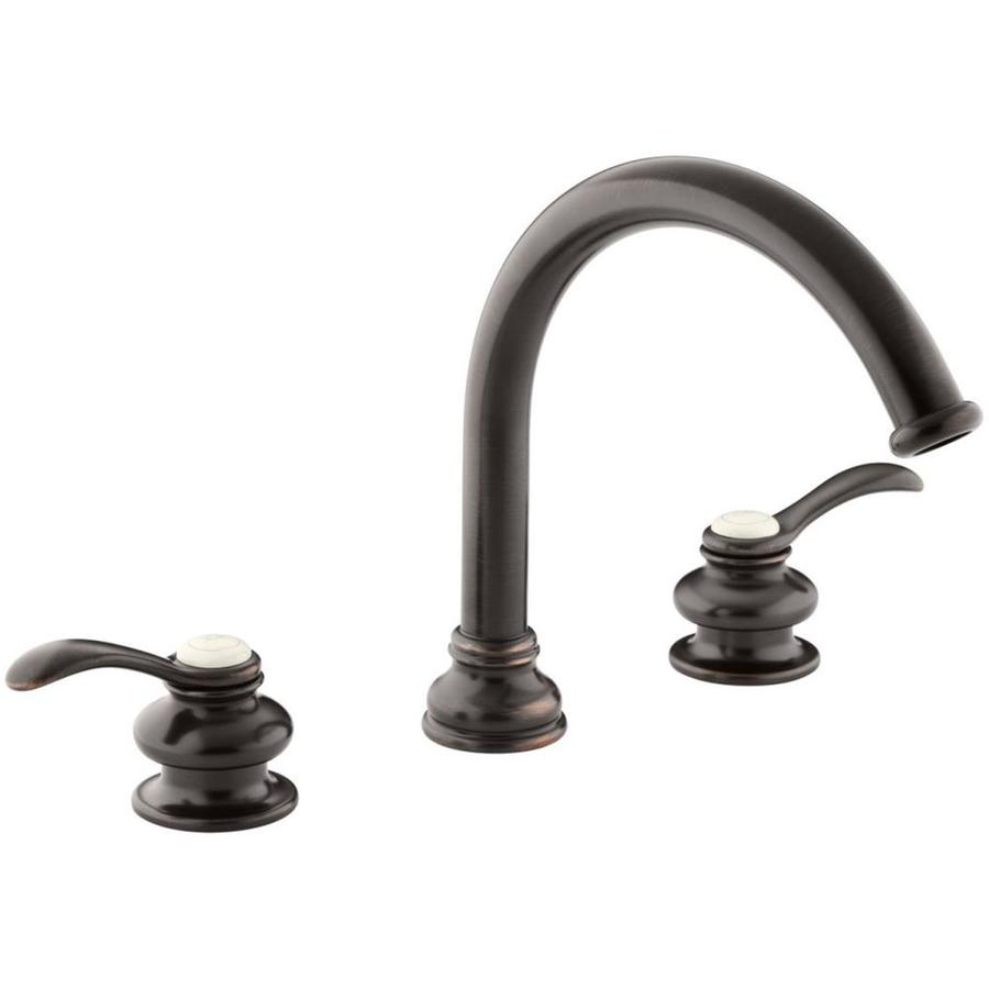 Kohler Fairfax Oil Rubbed Bronze 2 Handle Widespread Bathroom Sink