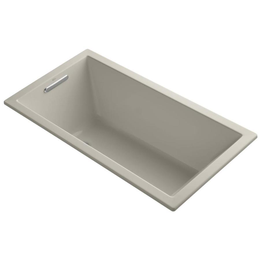 KOHLER Underscore Sandbar Acrylic Rectangular Drop-in Bathtub with Left-Hand Drain (Common: 32-in x 60-in; Actual: 21-in x 32-in x 60-in)