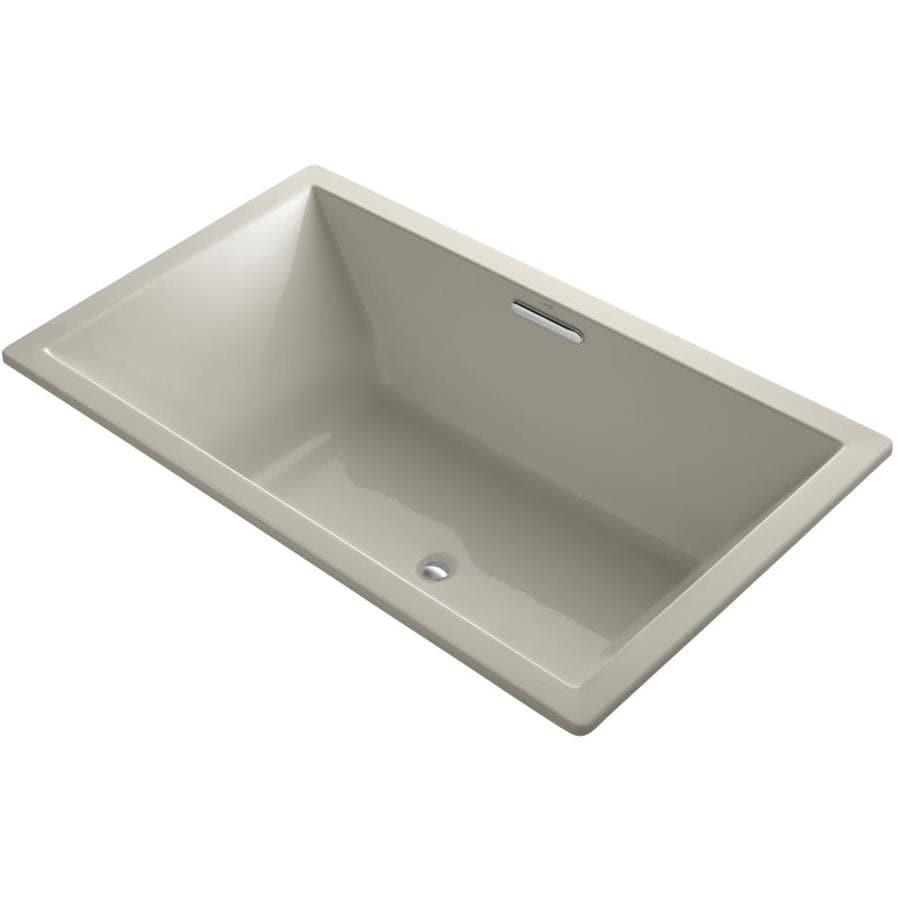 KOHLER Underscore 72-in Sandbar Acrylic Drop-In Bathtub with Reversible Drain