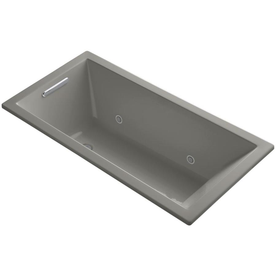 KOHLER Underscore 60-in Cashmere Acrylic Drop-In Bathtub with Reversible Drain
