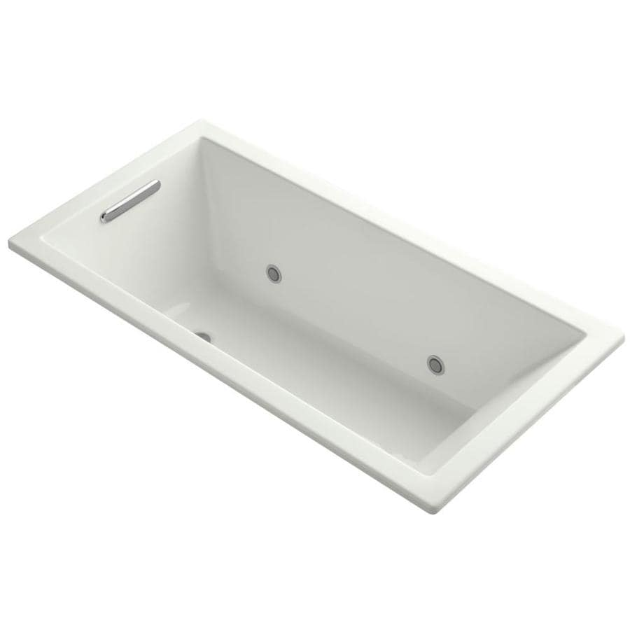 KOHLER Underscore Dune Acrylic Rectangular Alcove Bathtub with Center Drain (Common: 30-in x 60-in; Actual: 19-in x 30-in x 60-in)