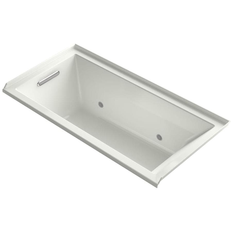 KOHLER Underscore Dune Acrylic Rectangular Alcove Bathtub with Left-Hand Drain (Common: 36-in x 60-in; Actual: 19-in x 36-in x 60-in)