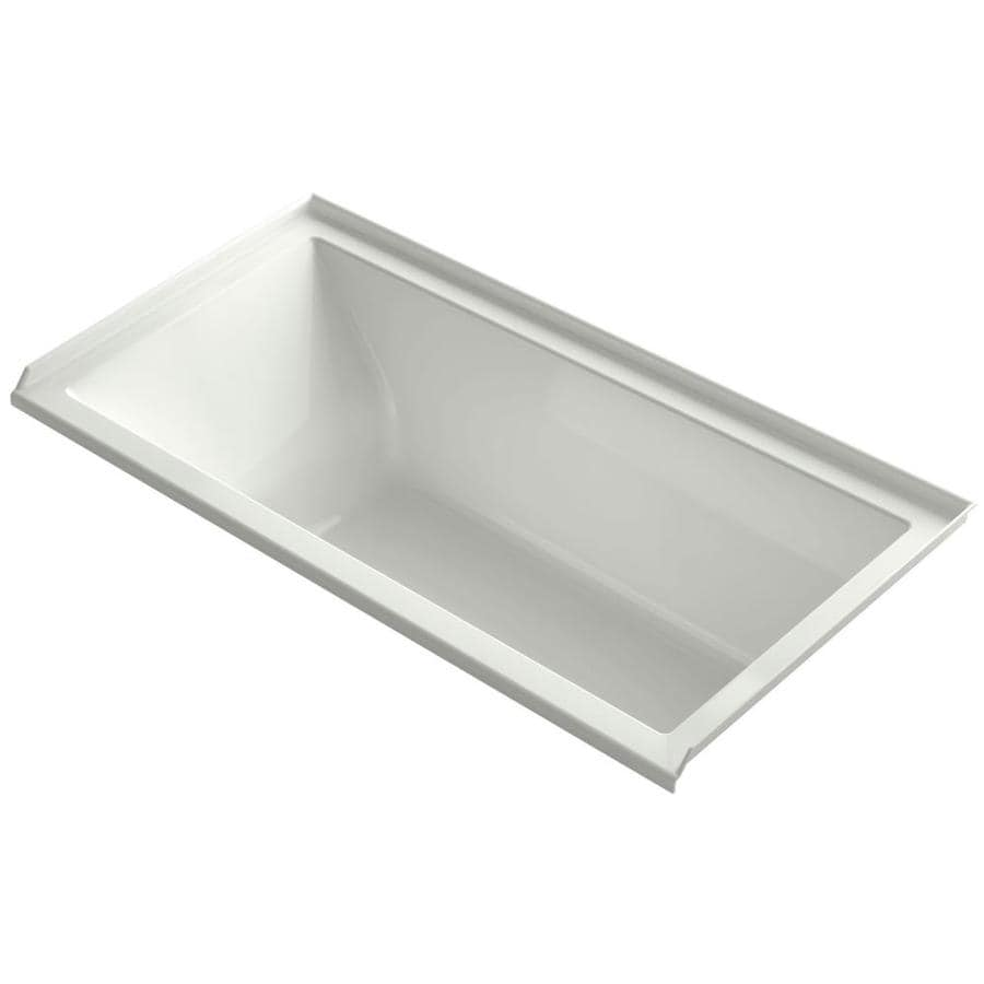 KOHLER Underscore 60-in Dune Acrylic Alcove Bathtub with Right-Hand Drain