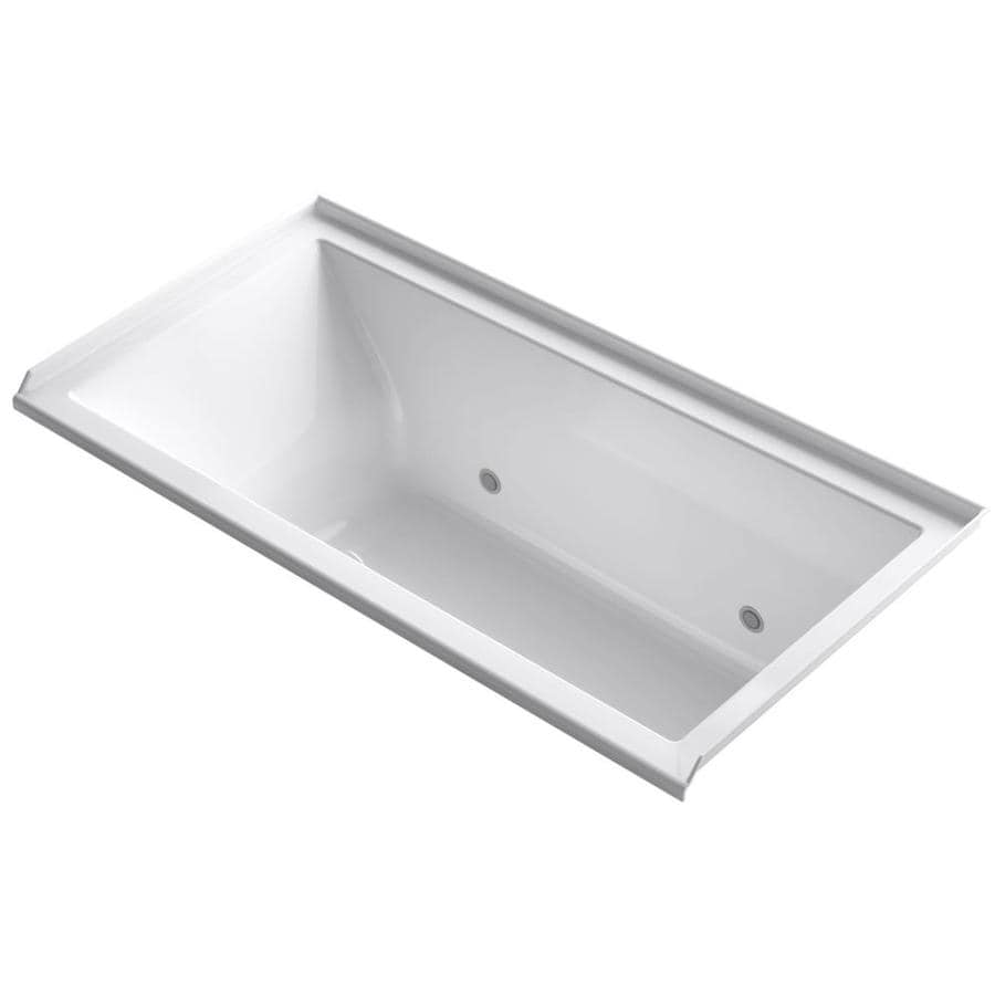 KOHLER Underscore Almond Acrylic Rectangular Alcove Bathtub with Right-Hand Drain (Common: 36-in x 60-in; Actual: 19-in x 36-in x 60-in)