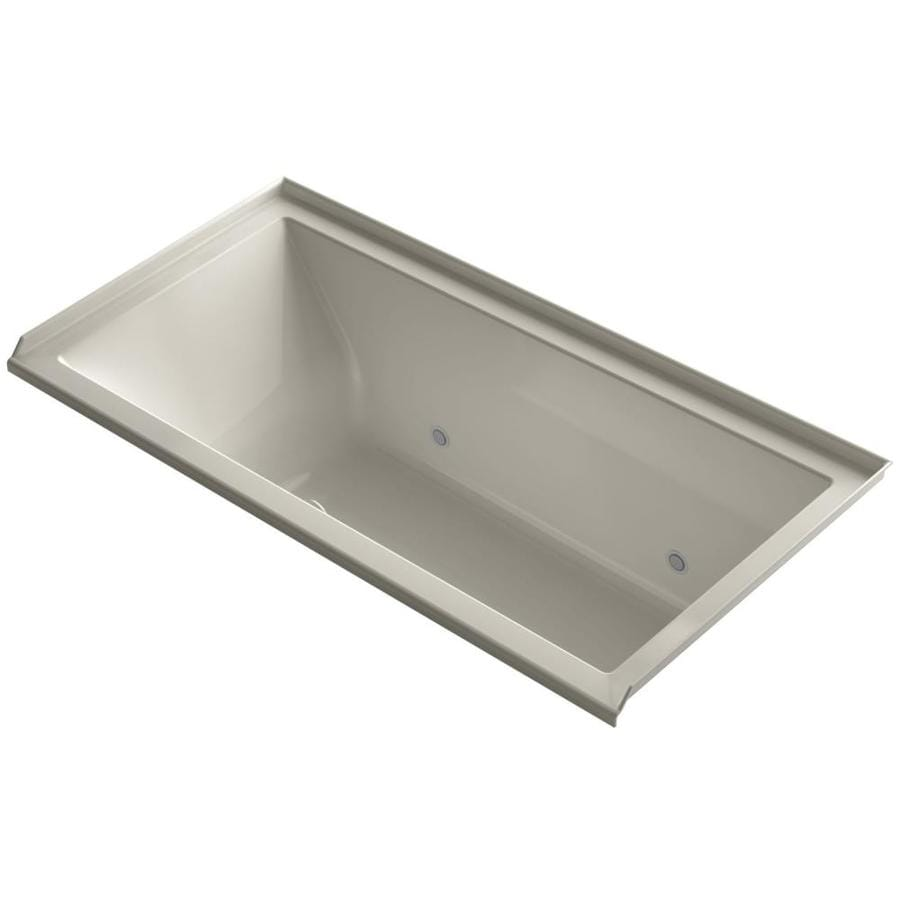 KOHLER Underscore Sandbar Acrylic Rectangular Alcove Bathtub with Right-Hand Drain (Common: 36-in x 60-in; Actual: 19-in x 36-in x 60-in)