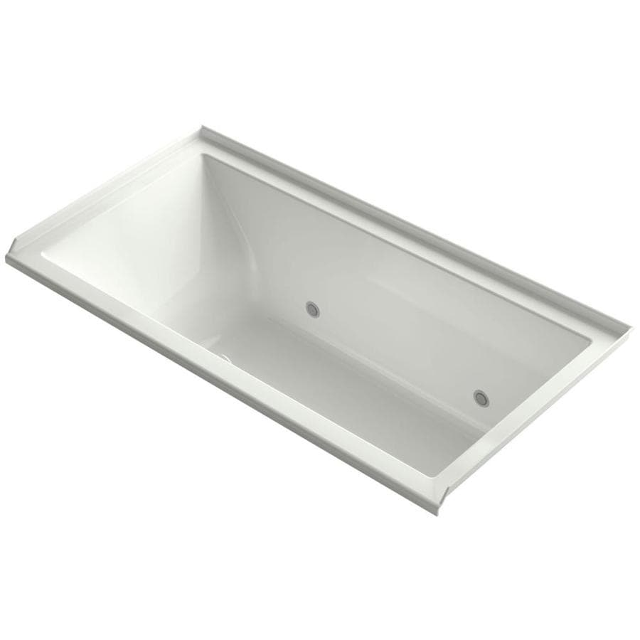 KOHLER Underscore Dune Acrylic Rectangular Alcove Bathtub with Right-Hand Drain (Common: 36-in x 60-in; Actual: 19-in x 36-in x 60-in)
