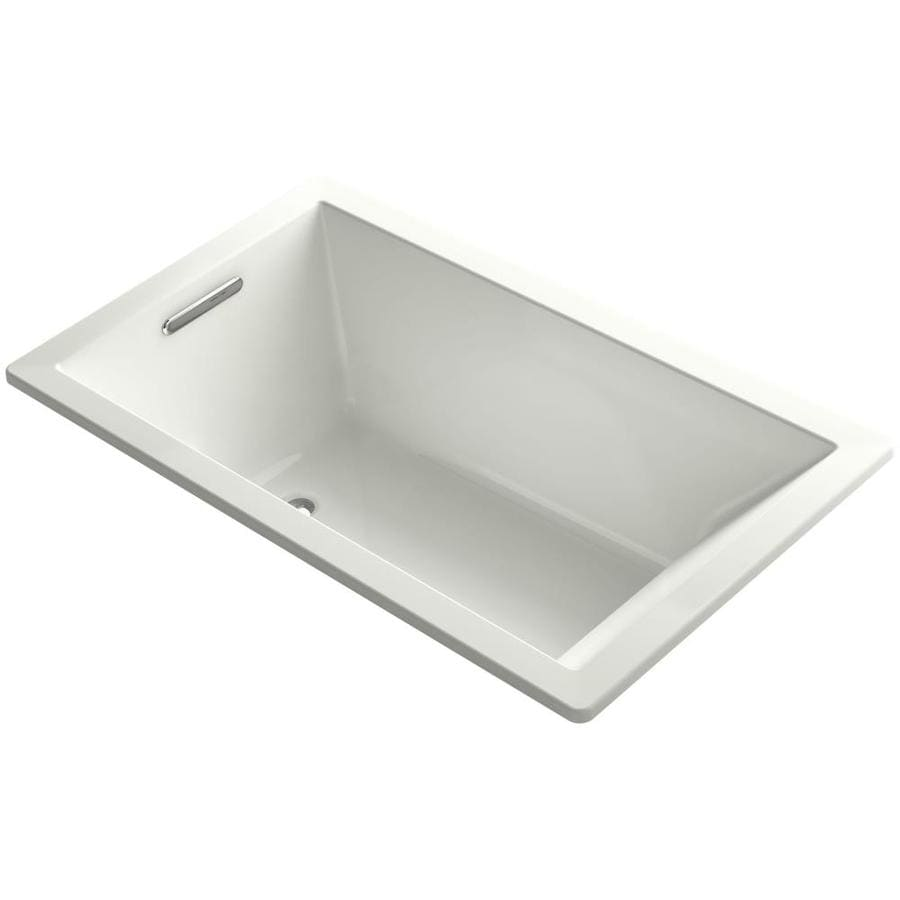 KOHLER Underscore Sandbar Acrylic Rectangular Drop-in Bathtub with Left-Hand Drain (Common: 36-in x 60-in; Actual: 21.0000-in x 36.0000-in x 60.0000-in)