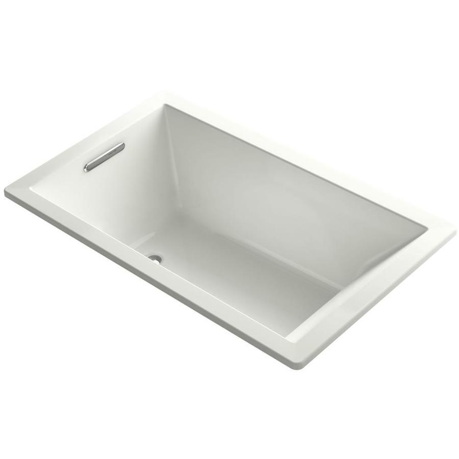 KOHLER Underscore 60-in Dune Acrylic Drop-In Bathtub with Left-Hand Drain