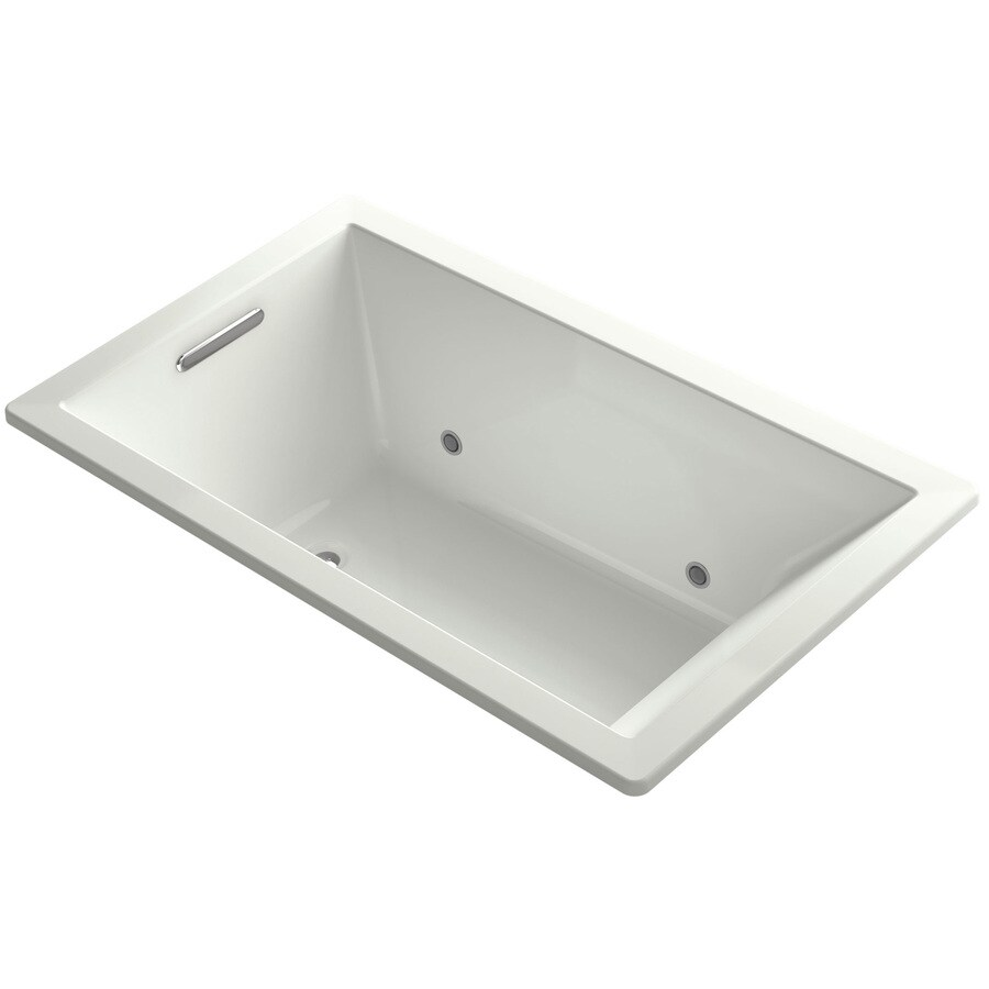KOHLER Underscore Dune Acrylic Rectangular Drop-in Bathtub with Center Drain (Common: 36-in x 60-in; Actual: 21-in x 36-in x 60-in)