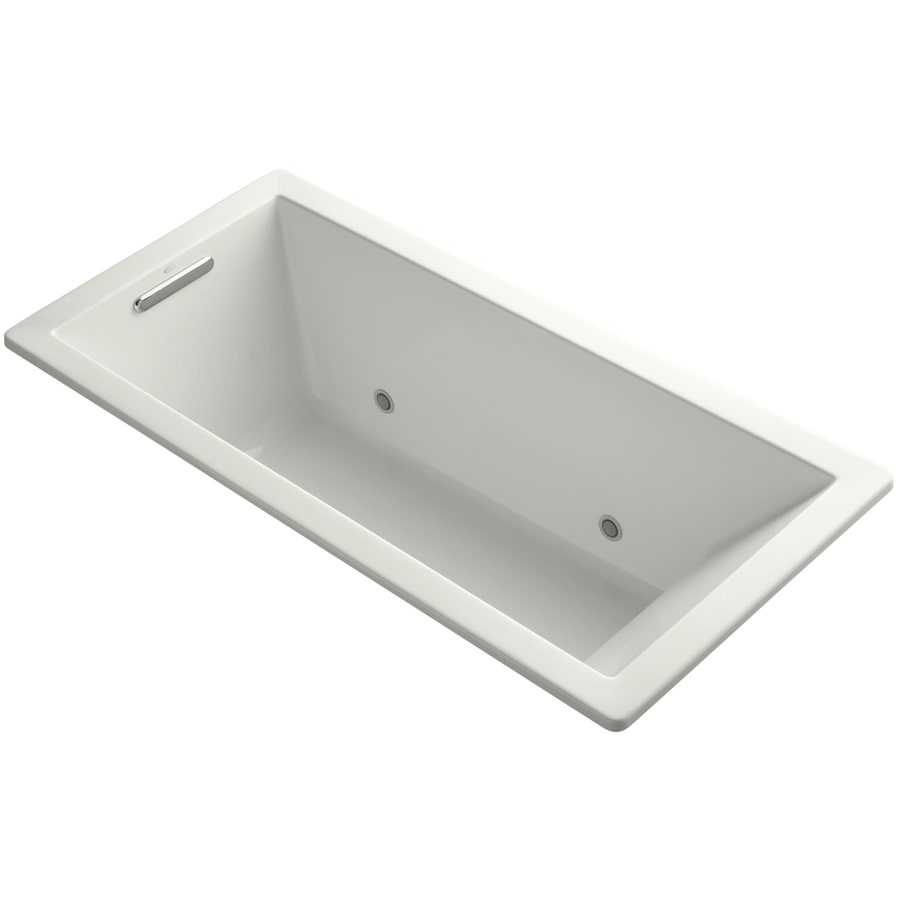 KOHLER Underscore 66-in Dune Acrylic Drop-In Bathtub with Center Drain
