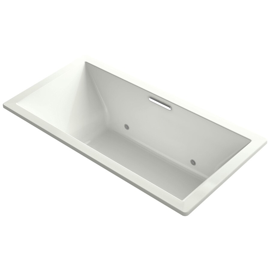 KOHLER Underscore Dune Acrylic Rectangular Drop-in Bathtub with Center Drain (Common: 36-in x 73-in; Actual: 23.0000-in x 36.0000-in x 73.0000-in)