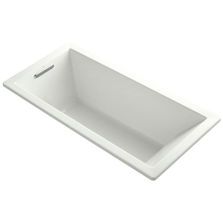 KOHLER Underscore 66-in Dune Acrylic Drop-In Bathtub with Left-Hand Drain