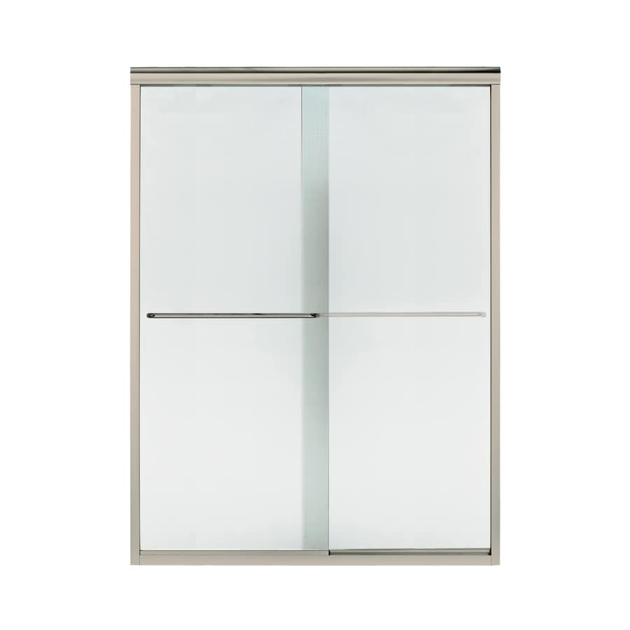 Sterling Finesse 56-in to 57.5-in Frameless Sliding Shower Door