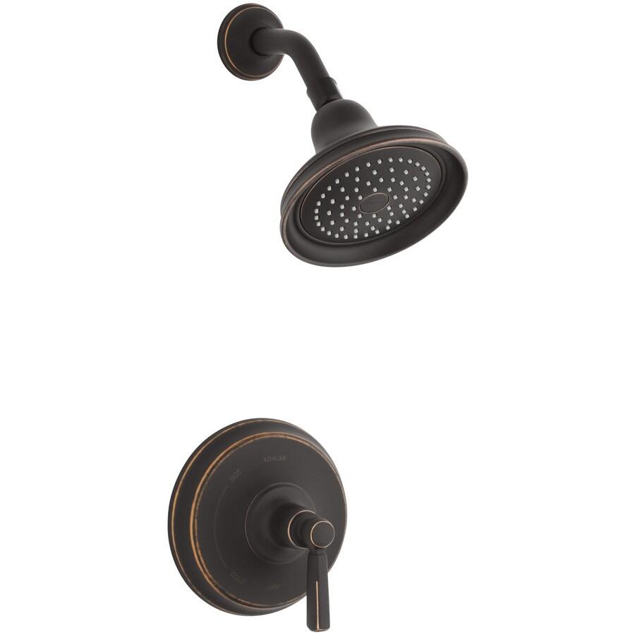 Ceiling Fans Oil Rubbed Bronze Shop KOHLER Bancroft Oil-Rubbed Bronze 1-Handle Shower ...