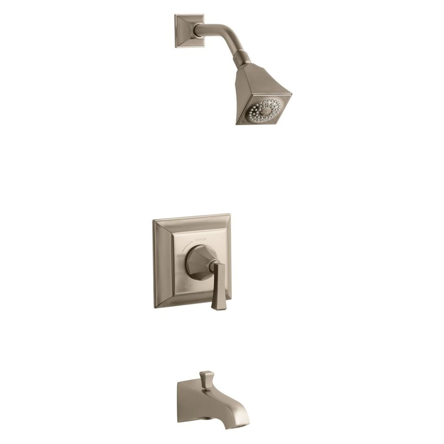 KOHLER Memoirs Oil-Rubbed Bronze 1-Handle Bathtub and Shower Faucet Trim Kit with Single Function Showerhead