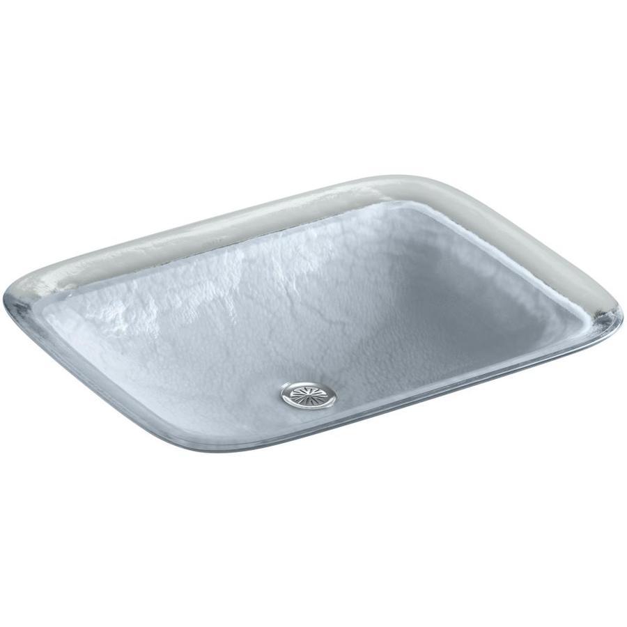 KOHLER Inia Opaque Dusk Glass Drop-in Rectangular Bathroom Sink