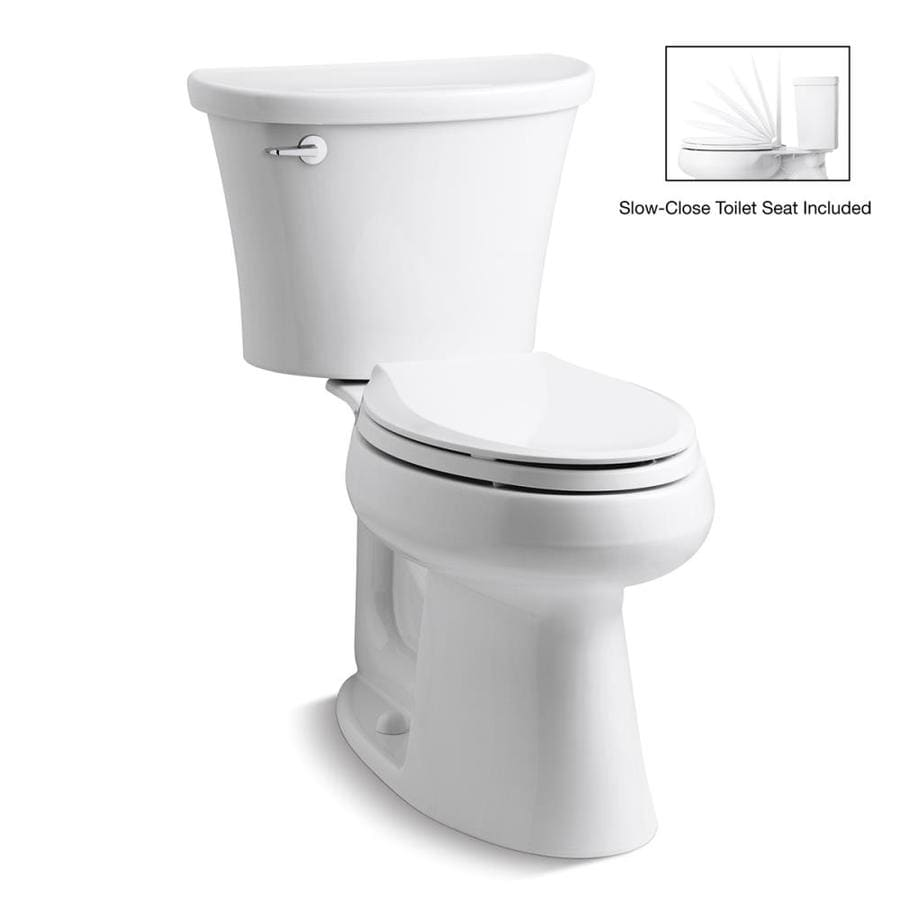 KOHLER Cavata 1.6 White WaterSense Dual-Flush Elongated Chair Height 2-Piece Toilet