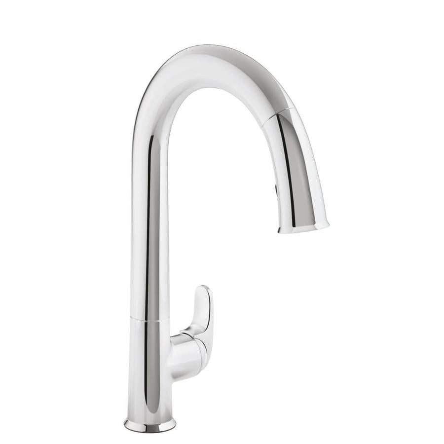 Kohler Sensate Polished Chrome 1 Handle Deck Mount Pull Down Sweep Kitchen Faucet