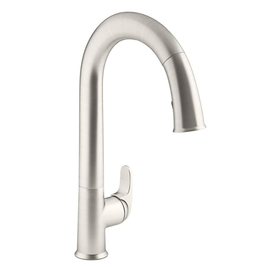KOHLER Sensate Vibrant Stainless 1-Handle Pull-Down Kitchen Faucet
