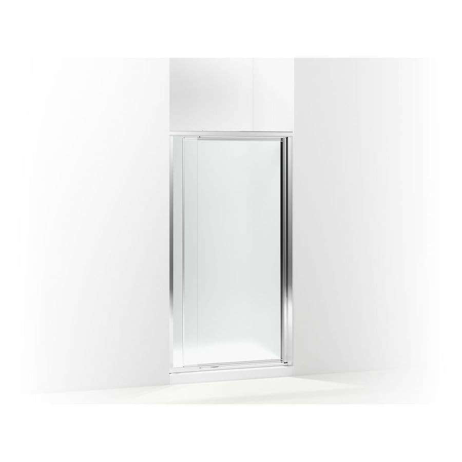 Sterling Vista Pivot II 31.25-in to 36-in W Framed Silver Pivot Shower Door