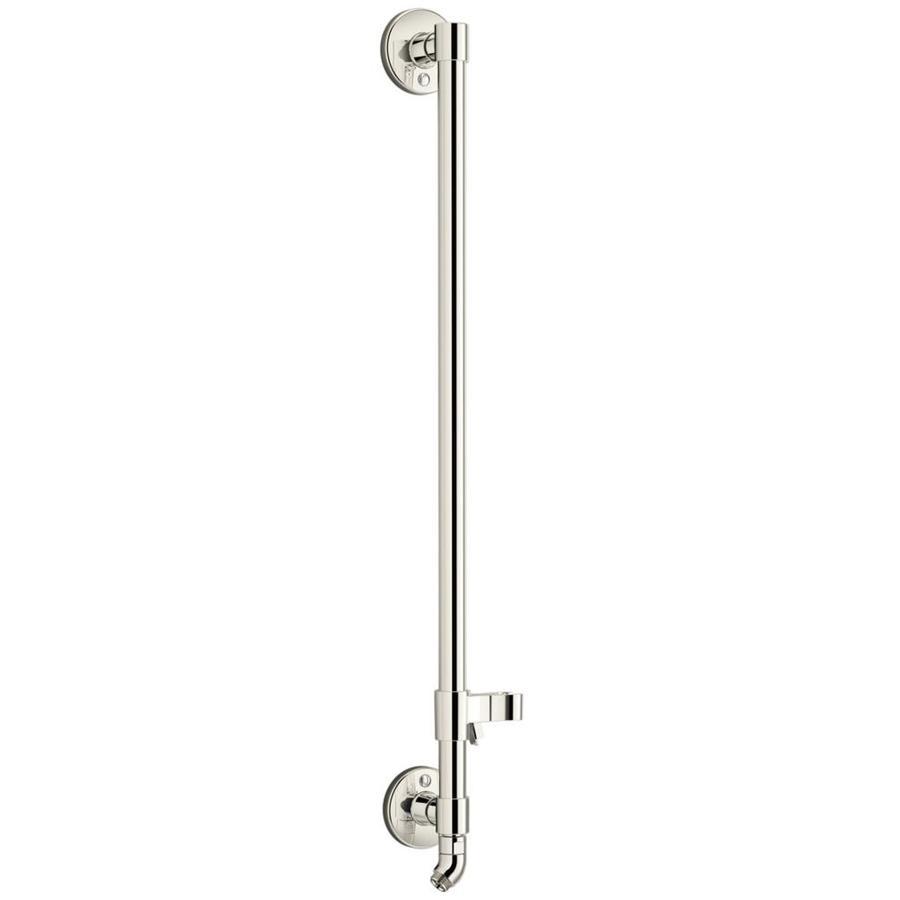shop kohler hydrorail vibrant polished nickel slide bar at