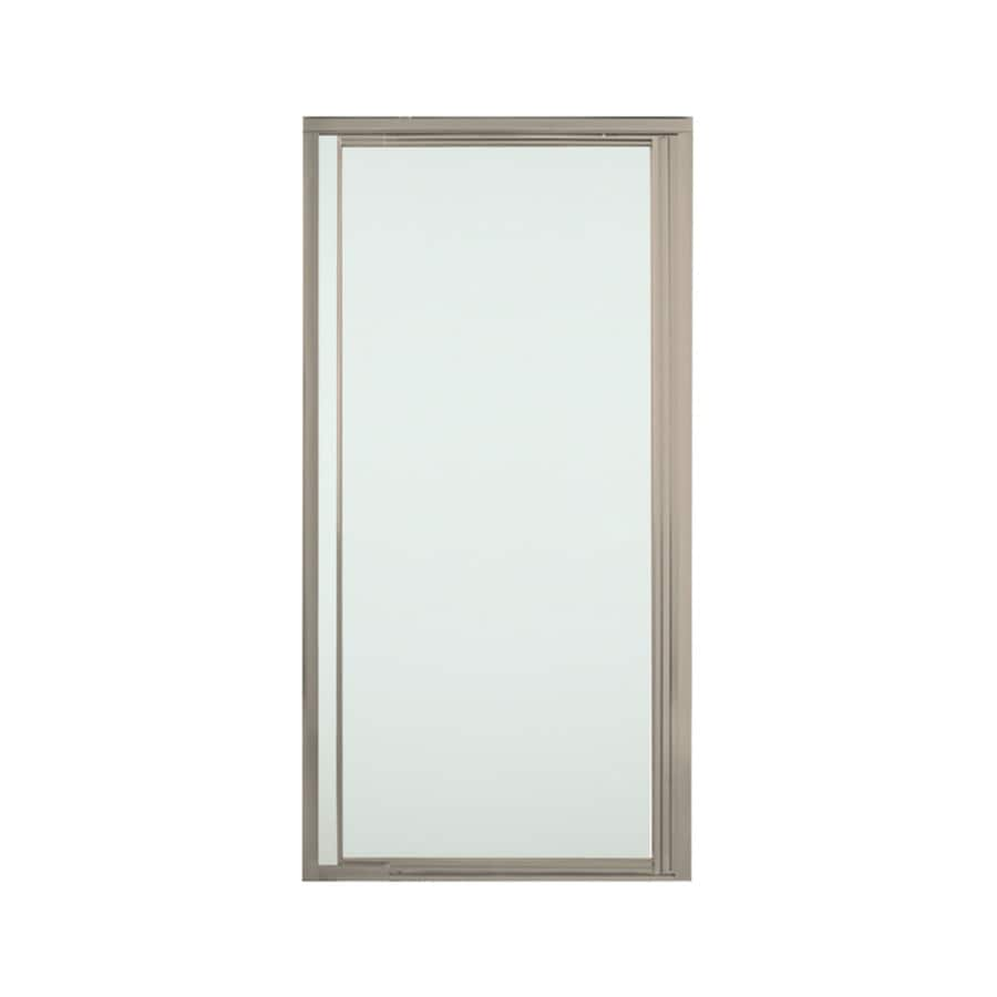Sterling Vista Pivot Ii 27.5-in to 31.25-in Framed Brushed Nickel Pivot Shower Door