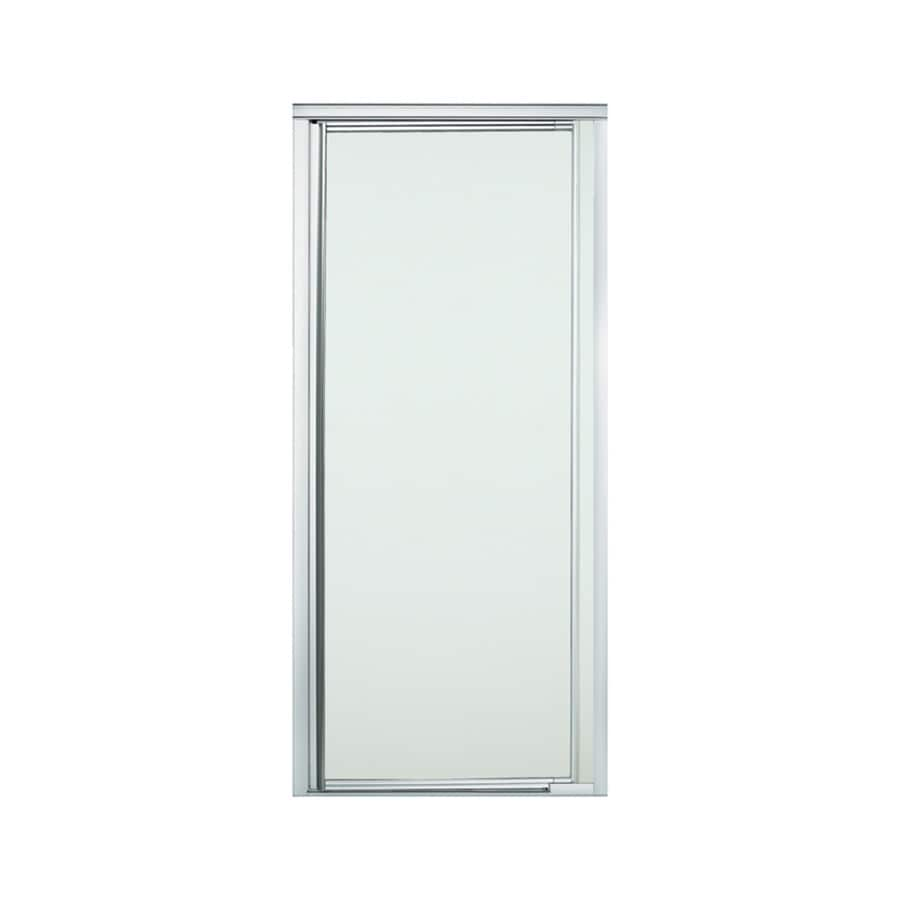Sterling Vista Pivot II 24-in to 27.5-in W Framed Silver Pivot Shower Door