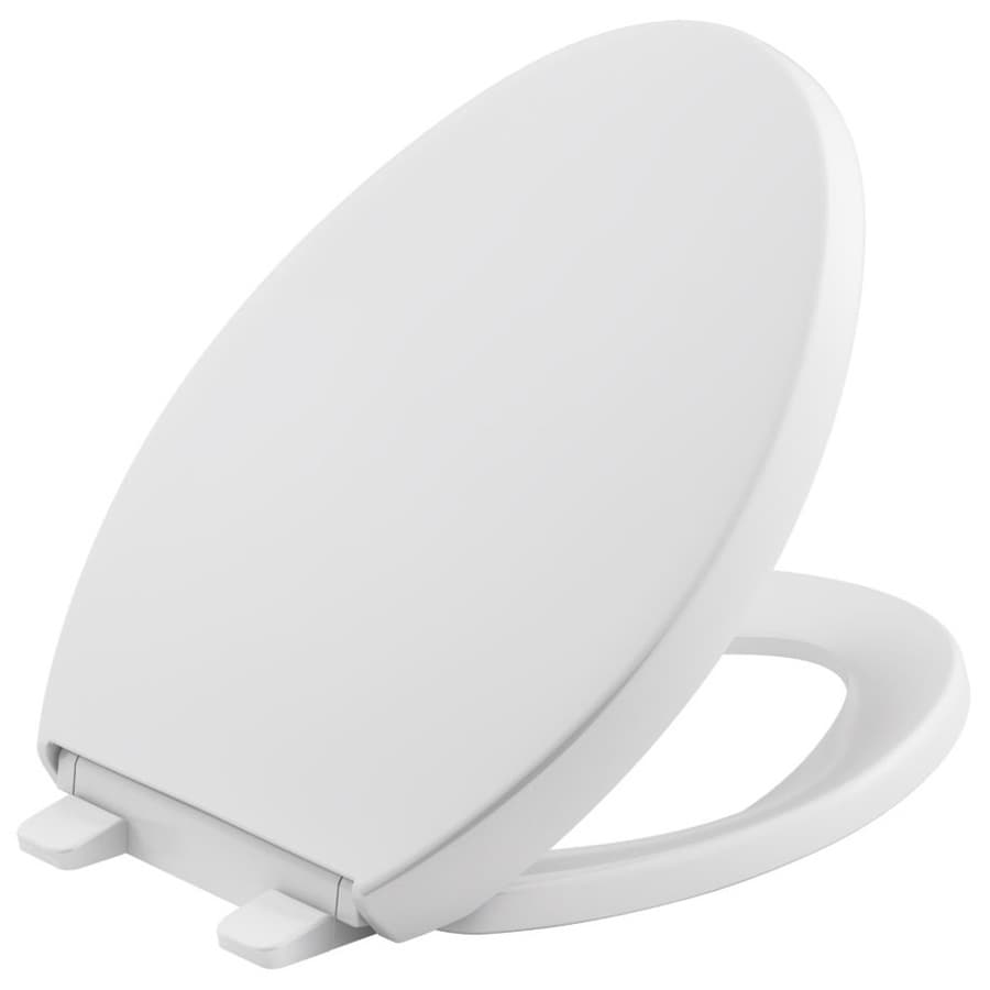 KOHLER Quiet Close Reveal Plastic Elongated Toilet Seat